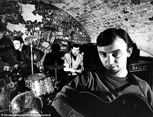 Rivals? Gerry's band were tipped to rival the Beatles in their early days. The band were in fact signed by Beatles manager Brian Epstein [pictured at The Cavern in the 1960s]