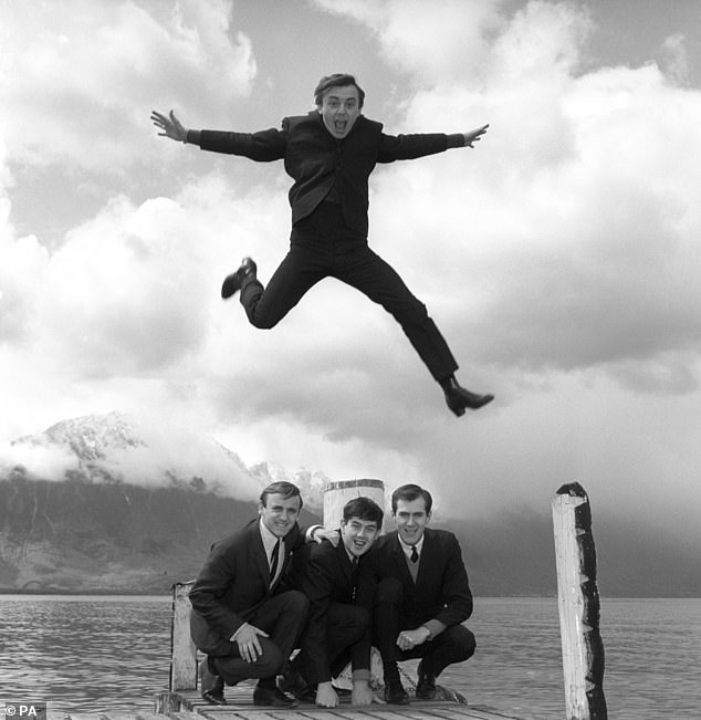 Icons: Gerry is seen leaping over his supporting Pacemakers in 1964