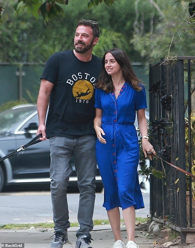 It's over: Ben Affleck is no longer dating Ana de Armas after a nearly a year of dating. They are pictured here in May 2020