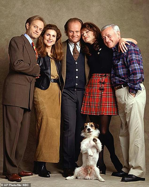 RIP: Sadly, John Mahoney (R) - who played Frasier's father Martin - passed away, age 77, in 2018 after a four-year battle with throat cancer